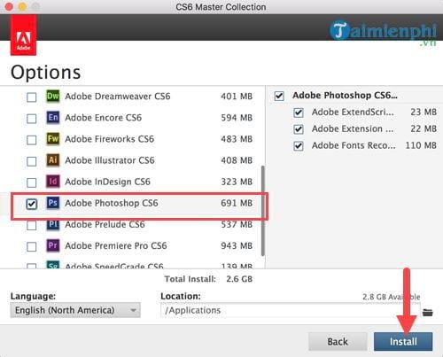 Cách cài Photoshop CS6 cho Mac, chạy photoshop trên Mac OS