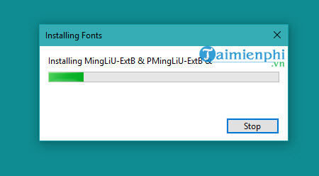 Set up the standard font for the computer
