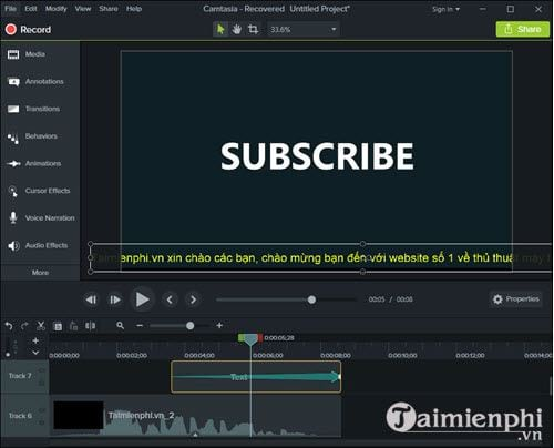 How to create a vegetarian program for video with camtasia studio 12