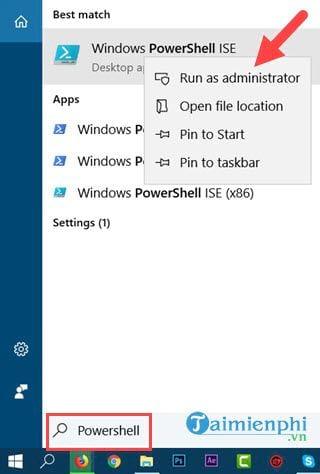 cach mo powershell trong windows 10 7