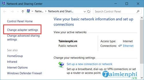 cach mo networks connections tren windows 10 5