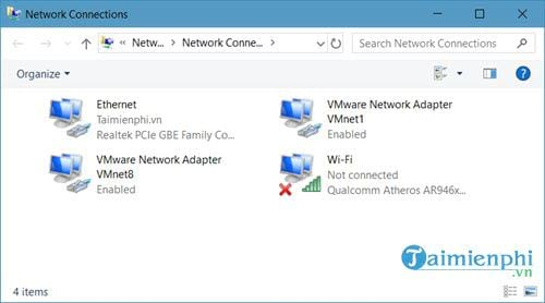 cach mo networks connections tren windows 10 6