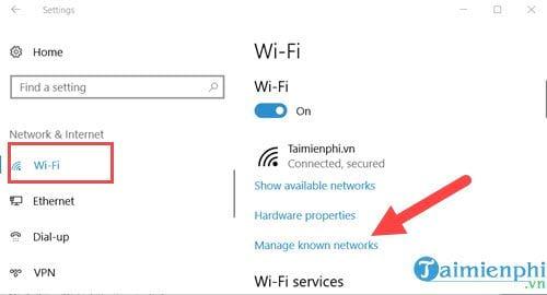 Cách thêm hoặc xóa Wifi kết nối với máy tính 2