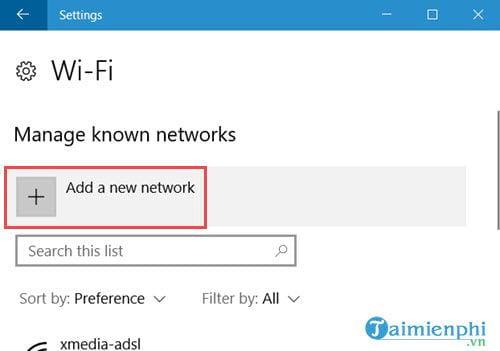 Cách thêm hoặc xóa Wifi kết nối với máy tính 3