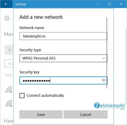 Cách thêm hoặc xóa Wifi kết nối với máy tính 4