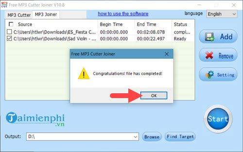 Sử dụng Free MP3 Cutter Joiner, cắt ghép file âm thanh trên máy tính