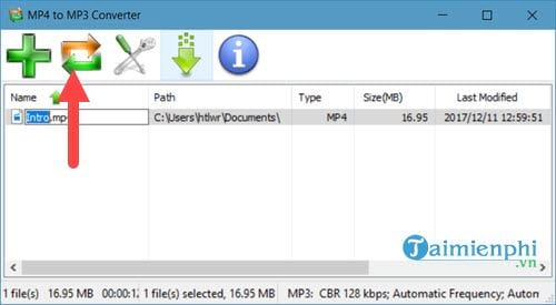 Use mp4 to mp3 converter to convert video to audio