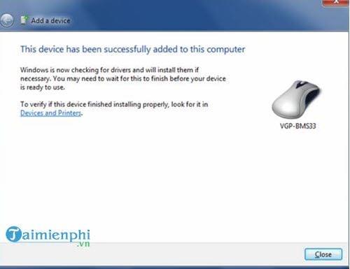 Cài đặt thiết bị Bluetooth trong Windows 7 4