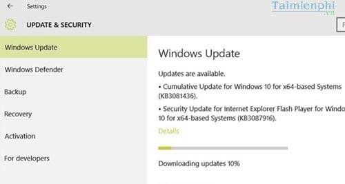 Cách sửa lỗi 0x80070020 khi cập nhật phiên bản KB3081424 trên Windows 10 6