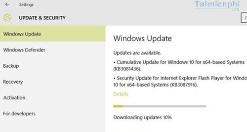 Sửa lỗi 0x80070020 khi cập nhật phiên bản KB3081424 trên Windows 10