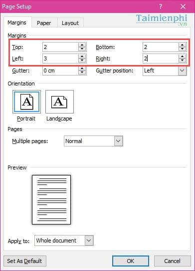 Cách căn lề chuẩn trong Word, căn chỉnh văn bản Word 2003, 2007, 2010, 2013, 2016 10