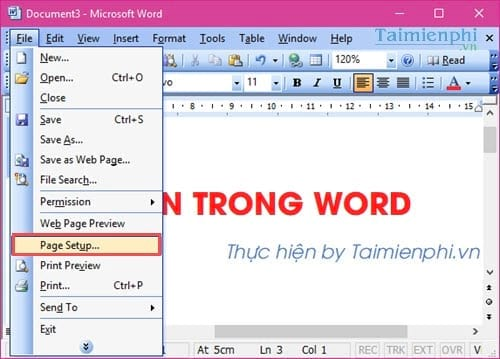 can le chuan trong word can chinh van ban word 2003 2007 2010 2013 2016 14