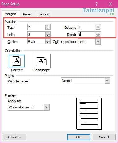 Cách căn lề chuẩn trong Word, căn chỉnh văn bản Word 2003, 2007, 2010, 2013, 2016 14