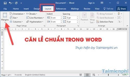 can le chuan trong word can chinh van ban word 2003 2007 2010 2013 2016 4