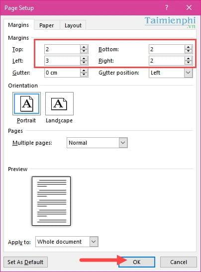 Cách căn lề chuẩn trong Word, căn chỉnh văn bản Word 2003, 2007, 2010, 2013, 2016 5