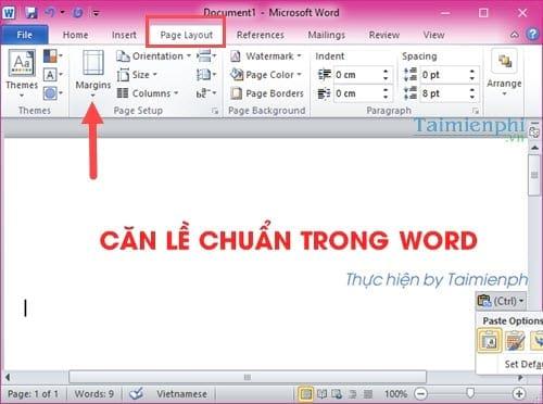 Cách căn lề chuẩn trong Word, căn chỉnh văn bản Word 2003, 2007, 2010, 2013, 2016 8