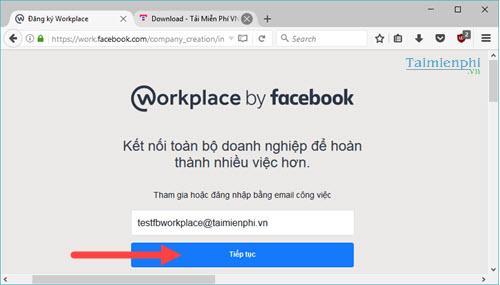 Cách đăng ký Facebook Workplace, tạo tài khoản