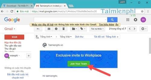 Cách mời người khác tham gia Facebook Workplace