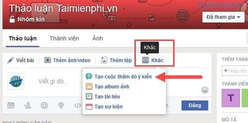 Cách tạo cuộc thăm dò ý kiến trên Facebook Workplace