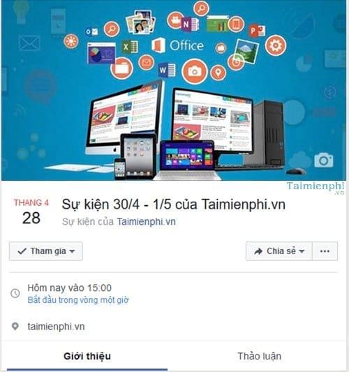 Cách tạo sự kiện trên Facebook Workplace