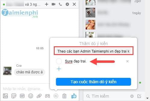 cach tao poll binh chon tren facebook messenger 5