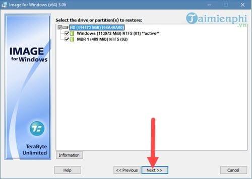 Tạo file ghost, bung file ghost cực dễ với TeraByte 12