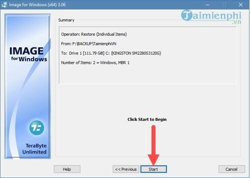 Tạo file ghost, bung file ghost cực dễ với TeraByte 14