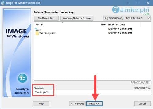 Tạo file ghost, bung file ghost cực dễ với TeraByte 5