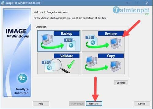 Tạo file ghost, bung file ghost cực dễ với TeraByte 8