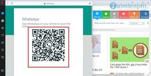 Cách chat WhatsApp trên Opera, sử dụng WhatsApp trực tiếp trên Opera