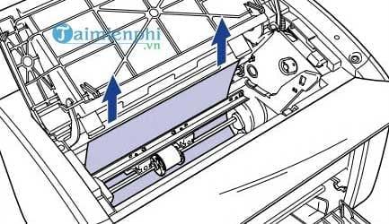 Cách sửa lỗi máy in bị kẹt giấy, lấy giấy bị kẹt an toàn 3