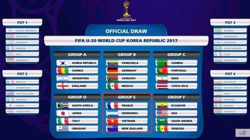 theo doi lich thi dau u20 world cup 2017