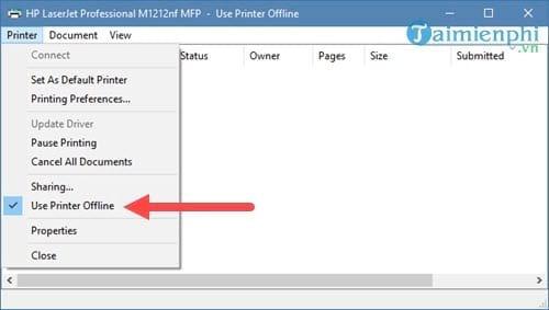 Cách sửa lỗi máy in bị offline, không in được 8