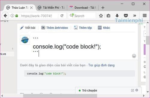 Cách định dạng bài viết trên Facebook Workplace bằng Markdown