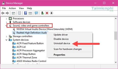 Sửa lỗi IDT High Definition Audio, lỗi mất âm thanh khi update Windows