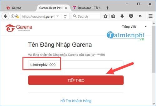 Cách lấy lại mật khẩu Garena bằng Email, Gmail 3