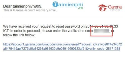 Cách lấy lại mật khẩu Garena bằng Email, Gmail 5