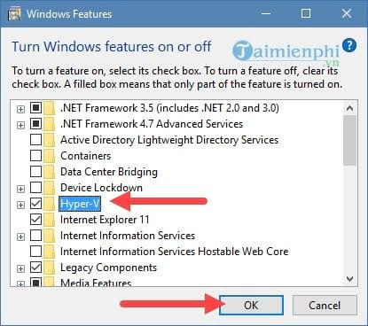 Kích hoạt Hyper-V Manager trên Windows 10 4