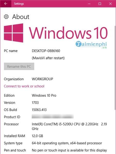 Cách xem cấu hình máy tính Windows 10 4