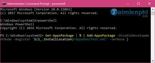 Sửa lỗi không mở được Start Menu Windows 10 6