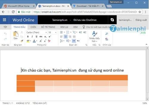 Cách dùng Office Online để làm Word, Excel, PowerPoint trực