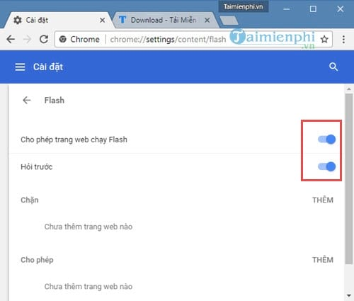 Cách bật Flash trên Chrome, bật tắt Adobe Flash Player 2