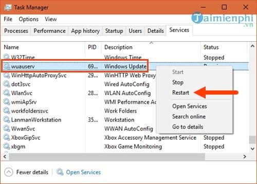 Lỗi Background Intelligent Transfer không chạy trên Windows 10 10