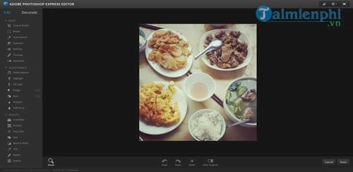 Instructions for using photoshop express editor edit photos online 6