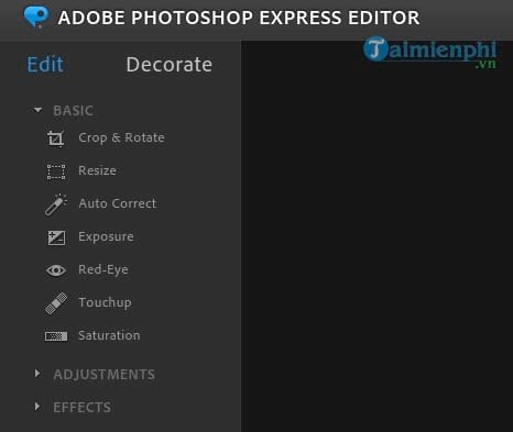 Instructions for using photoshop express editor edit photos online 7