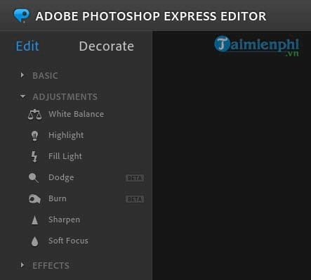 Instructions for using photoshop express editor edit photos online 8