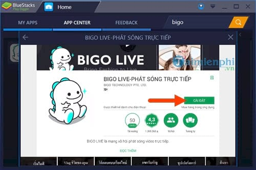 Cách dùng Bigo Live trên Laptop, PC với BlueStacks