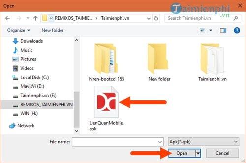 Cách cài file APK cho Droid4X, chạy file Android trên Droid4x