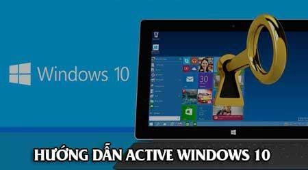 cach active windows 10 pro home ban quyen mien phi