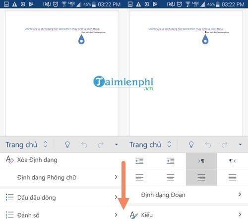 cach chinh sua va dinh dang file word tren may tinh va dien thoai 7